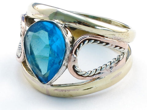 Wholesale Swiss Blue Topaz .925 Sterling Silver Ring Size 5