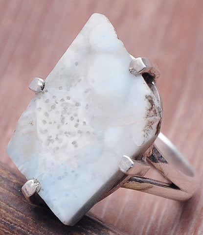 Jewelry Store Larimar .925 Sterling Silver Jewelry Rings 8