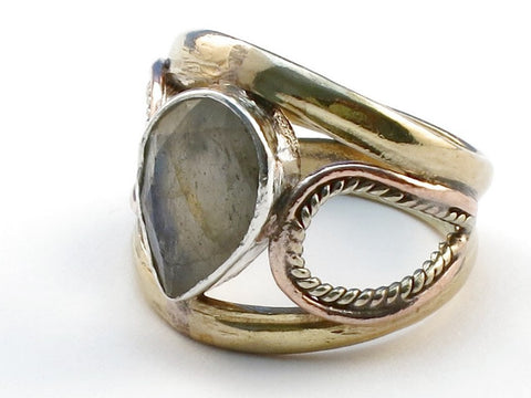 New Labradorite .925 Sterling Silver Ring Size 6