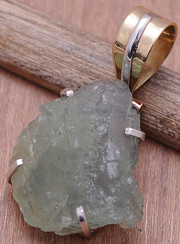 Handcrafted Aquamarine .925 Sterling Silver Jewelry Pendant 1.4""