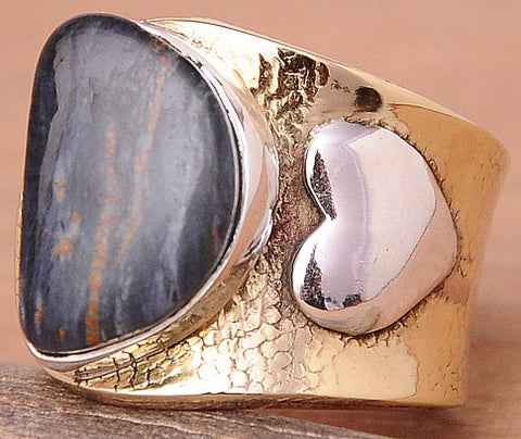 Pietersite .925 Sterling Silver Jewelry Rings Adjustable