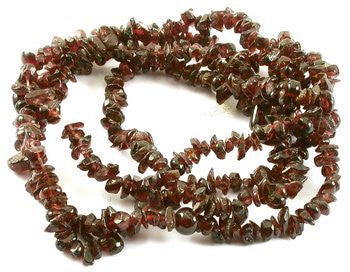 "Build Your Own Garnet Chips Bead Strand 34"" 1x3-4x6mm"