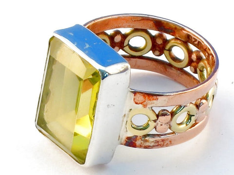 Special lemon topaz .925 Sterling Silver Ring Size 9