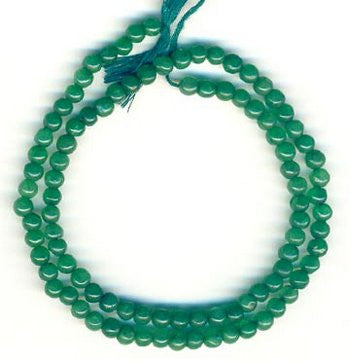 Zed (Green) Round 4mm Plain Beads Strand 15""