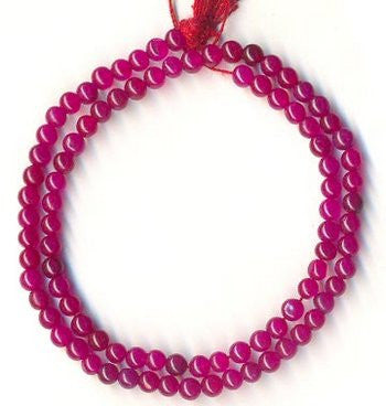 Zed (Red) Round 4mm Plain Beads Strand 15""