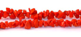 "36"" strand of Synthetic Orange stones chips"