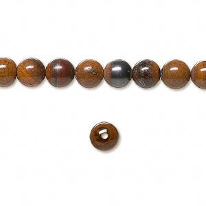 Bead Tiger Iron 6mm Round Sold Per 16-Inch Strand