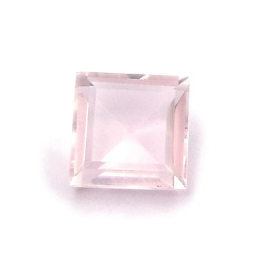 1.63 Ct. Natural Rose Quartz Loose Gemstone 7x7 MM Square