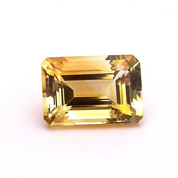 0.62 Ct. Natural Citrine Loose Gemstone 6x4 MM Octagon