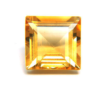 10.40 Ct. Natural Citrine Loose Gemstone 14x14 MM Square