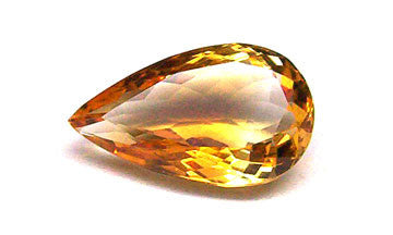 8.05 Ct. Natural Citrine Loose Gemstone 16x12 MM Pears