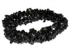"Black Stone Chips Gemstone Beads Strand 36"", Grade B"