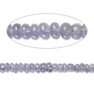 Bead tanzanite (heated) 3-5mm graduated rondelle. Sold per 16-inch strand.