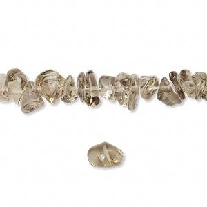 Bead Smoky Quartz (Irradiated/Heated) Chip 36-Inch Strand