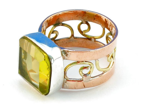 Design 110922 lemon topaz .925 Sterling Silver Ring Size 10
