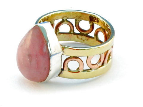 Design 111030 rhodocrosite .925 Sterling Silver Ring Size 7