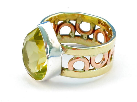 Design 111039 lemon topaz .925 Sterling Silver Ring Size 10