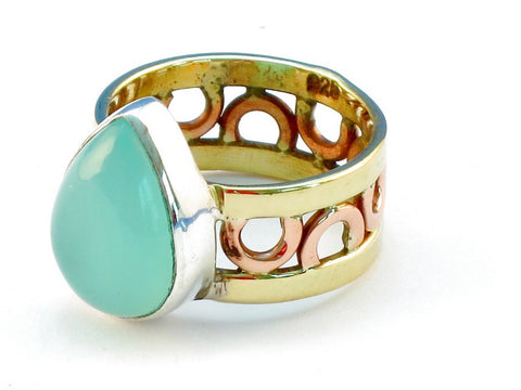 Design 111042 aquamarine .925 Sterling Silver Ring Size 8