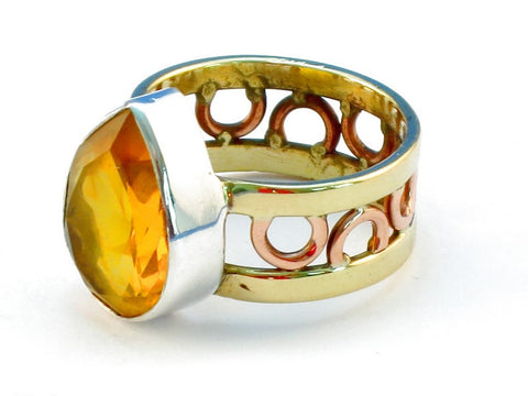 Design 111122 citrine .925 Sterling Silver Ring Size 7