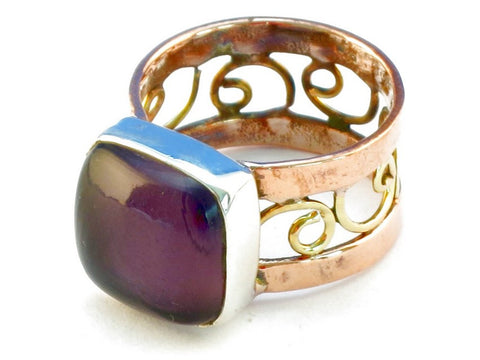 Design 110620 purple amethyst .925 Sterling Silver Ring Size 7