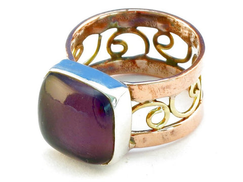 Design 110623 purple amethyst .925 Sterling Silver Ring Size 9