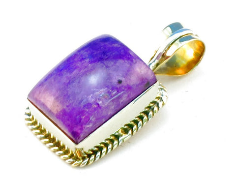 Design 111376 purple rainbow moonstone .925 Sterling Silver Pendant 1 3/8""