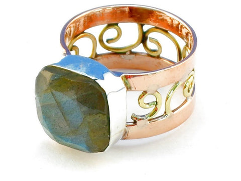 Design 110635 labradorite .925 Sterling Silver Ring Size 7