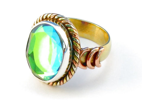 Design 110236 rainbow mysterious .925 Sterling Silver Ring Size 6