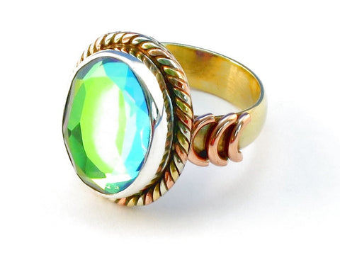 Design 110240 rainbow mysterious .925 Sterling Silver Ring Size 10