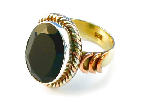 Design 110255 black onyx .925 Sterling Silver Ring Size 6