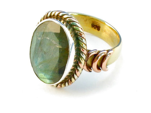Design 110336 labradorite .925 Sterling Silver Ring Size 6