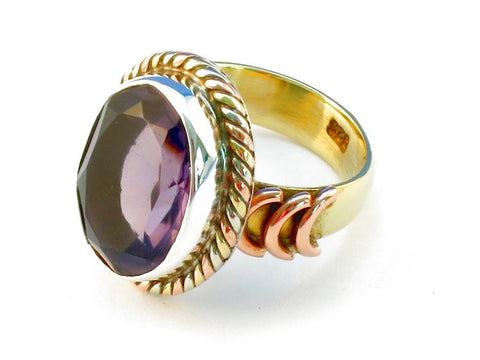 Design 110436 purple amethyst .925 Sterling Silver Ring Size 6