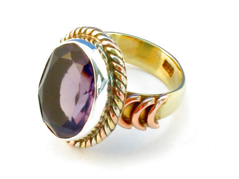 Design 110437 purple amethyst .925 Sterling Silver Ring Size 7