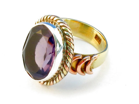 Design 110439 purple amethyst .925 Sterling Silver Ring Size 9