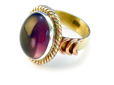 Design 110441 purple amethyst .925 Sterling Silver Ring Size 6