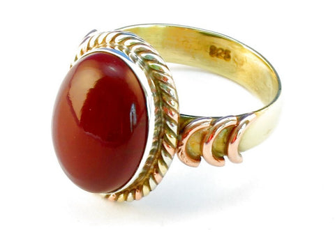 Design 110485 mookaite .925 Sterling Silver Ring Size 10