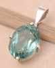 Green Quartz .925 Sterling Silver Jewelry Pendant 1.2""