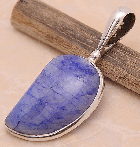 Purple Rainbow Moonstone .925 Sterling Silver Jewelry Pendant 1.50''