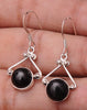 Black Onyx .925 Sterling Silver Jewelry Earrings 1.2""