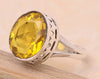 Lemon Quartz .925 Sterling Silver Jewelry Ring Size 8