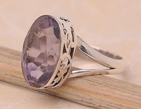Amethyst .925 Sterling Silver Jewelry Ring Size 9