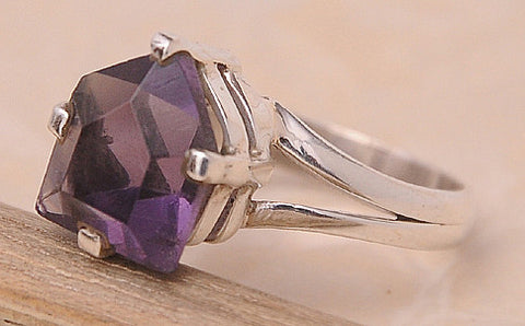Amethyst .925 Sterling Silver Jewelry Ring Size 8