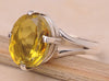 Lemon Quartz .925 Sterling Silver Jewelry Ring Size 10
