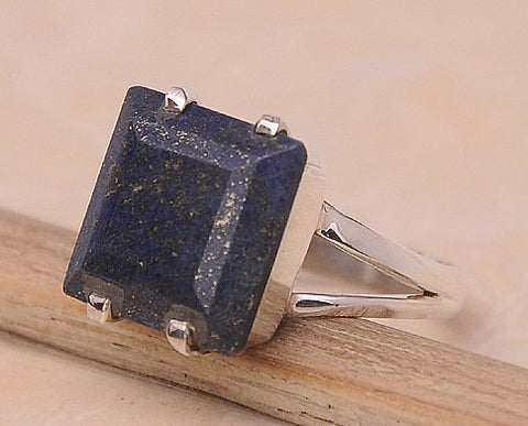 Lapis Lazulli .925 Sterling Silver Jewelry Ring Size 8