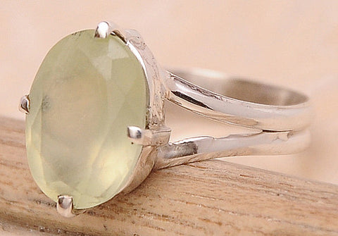 Aquamarine .925 Sterling Silver Jewelry Ring Size 8