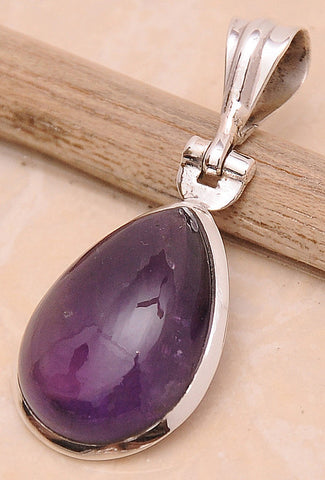 Amethyst .925 Sterling Silver Jewelry Pendant 1.6""