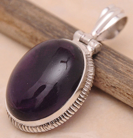 Amethyst .925 Sterling Silver Jewelry Pendant 1.40""