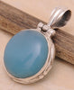 Chalcedony .925 Sterling Silver Jewelry Pendant 1.50''
