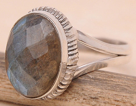 Labradorite .925 Sterling Silver Jewelry Ring Size 6