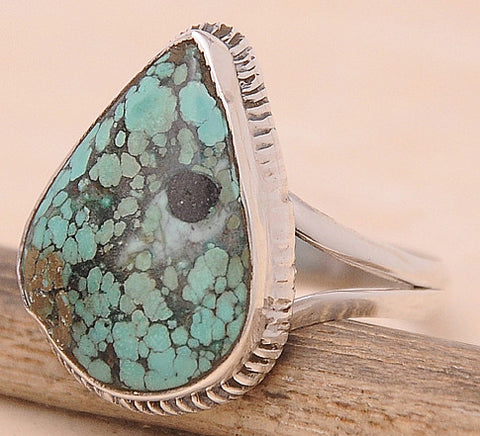 Turquoise .925 Sterling Silver Jewelry Ring Size 9